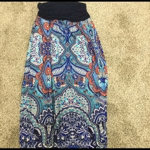 Apt 9 Long Patterned Skirt SUPER COMFY